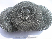 Galvanized steel dish copper scourer/steel wool mesh scrubber