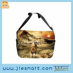Canvas messenger bag custom made sublimation printing shoulder bag