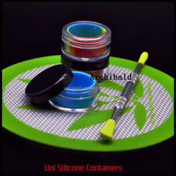 Silicone Jars Dab Wax Vaporizer Oil Container Maple Leaf Box Wax Container Silicone Concentrate Container