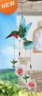 Pássaro em forma de vidro Wind Chime atacado