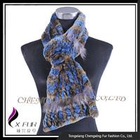 CX-S-173D 2015 China Wholesale Rex Rabbit Fur Scarf For Winter