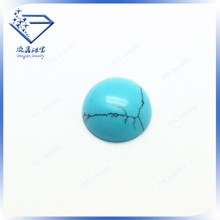 china trendy round turquoise stone blue, synthetic turquoise beads