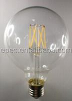 Ningbo factory G125 E27 8W 220v full glass cover 360 degree saphire Bracket Globle LED Filament Vintage Bulb