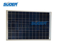Suoer Poly Solar Panel 50W Solar Power Cell 18V Solar Cell Module
