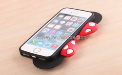 Lovely Cartoon Bow Silicone Soft Cover Case For iPhone 5 5S With Phone Holder