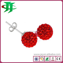 2015 hot sale stainless steel jewelry crystal stud earrings
