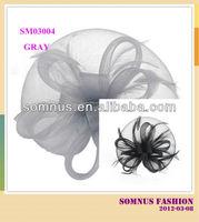 Somnus Fashion Ladies' Feather Gray Hair Accessories