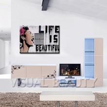 Life is beautiful Bansky Art Original