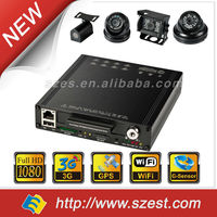 Remote Live view & GPS tracking Hard Disk 4CH 8CH DVR for Double-decker bus (1080P+3G+WIFI+GPS+G-Sensor) 12V DC Vehicle DVR