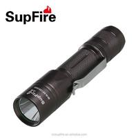 Aluminum waterproof LED flashlight strobe A6 with belt clip