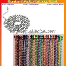 proffesional gold stainless steel ball chain/metal ball chain