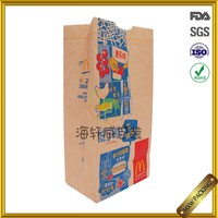 reclosable waterproof paper bag with plastic coated surface