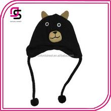 yiwu wholesale children cheap bear KNIT HAT