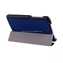 Tri-fold Silk Print PU Leather Tablet PC Case,Stand 8.3 Inch Tablet Protetcive Case for Lg G Pad V