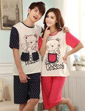 de algodón 2014 precioso diseño personalizado adultos pijama mono para el verano