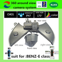 360 degree view car camera system bird view camera system around view monitor parking system for BENZ E 2015