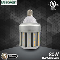 80w HID retrofit E27 E40 UL LED corn bulb