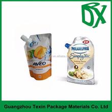 manufacturer jelly drinks bag/plastic juice pouch/spout liquid packaging