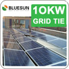 Bluesun China manufature grid tied cheap grid tie 10kw solar power system for home
