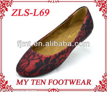 Red Lace Sexy Pictures Of Women Flat Shoes