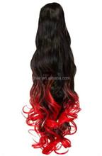 5A grade Good quality wrap around human hair ponytail indian remy hair ponytail wrap around ponytail