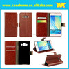 smart phone wallet style leather case, mobile phone leather case for samsung galaxy A5