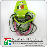 Large stock Mexico slim silicone rubber band on sale with very cheap price