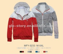 2012 latest design men reversible jacket for young people