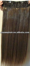 ponytail hair pieces heat-resistant synthetic clip in hair extension