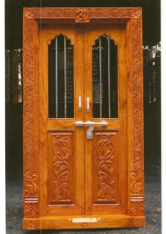 Carved Wooden Door Frame