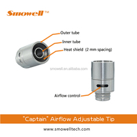 Smowell Captain air-flow adjustable 510 ecig drip tips for sub ohm tank