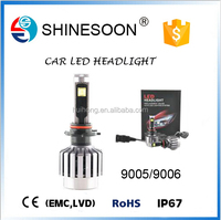 China car accessory led headlight 9005 9006 for car 2s with CE, RoHS, IP67 waterproof certificate