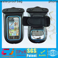 2014 hot unbreakable waterproof cell phone case for moto with earphone