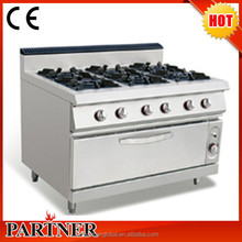 Manufacturer OEM China Supplier Standing Style Kitchen Appliance Cast Iron 6 Burner Gas Range For Starred Hotels