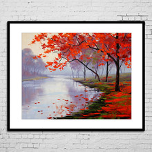 Decor Custom Suppliers Printed Beautiful Handmade Natural Scenery Painting