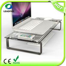 Elegant practical DIY desktop computer shelf