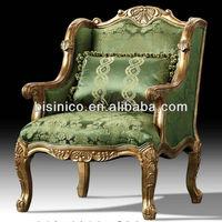 British Royal Furniture, Victorian Style Furniture-1 Seat Sofa/Wing Sofa Chair, Bisini Living Room Furniture