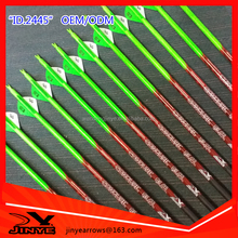 Professional 100% carbon hunting arrow with green lacquered