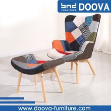 New design Patchwork Fabric Accent Chair E01