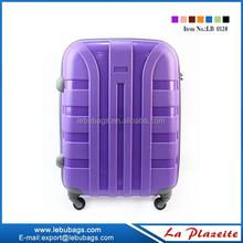 360 degree 4 wheeled cabin luggage travel one, fashion beautiful luggage sets for girls