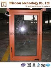 Rolling outside open wooden feel laminated upvc casement window