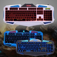 Wired Game Gaming Keyboard Backlight 3 Color Breathing Multimedia For Computer PC Notebook