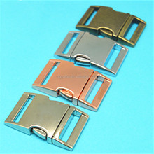 Supplier contoured side release buckle,pet collar buckle wholesale,metal buckles for dog collars
