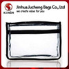 Trendy Transparent Clear Vinyl Cosmetic Bag,clear plastic zipper cosmetic bags