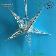 2015 hot new products Christmas decoration laser film silver paper star lantern