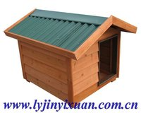 colorful roof wooden dog house