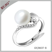 for office lady sterling silver ring