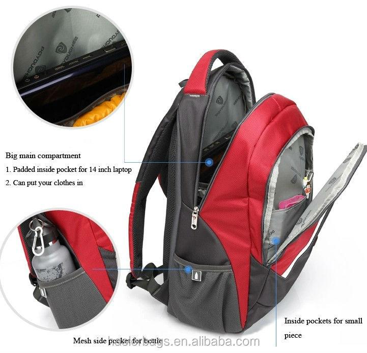 2016 Nouvelle conception ordinateur sac à dos sac d'ordinateur portable
