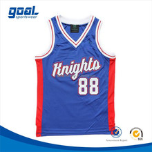 2015 Latest design customized youth 100 polyester cool dry basketball jerseys wear