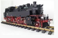 Gauge one g scale 1/32 Brass model train Rail power Germany BR50 steam engine locomotive garden hobby collectable model train